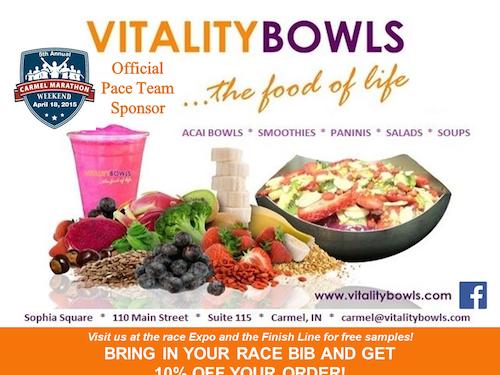 Carmel Marathon Website Vitality Bowls